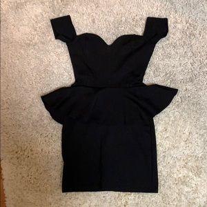 Nastygal peplum bodycon dress size XS